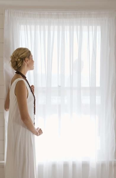 sheer white curtains  How to Make White Sheer Curtains Without Sewing
