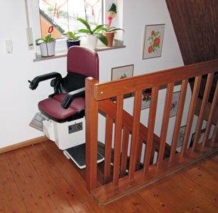 Treppenlift HIRO 150 für gerade Treppenverläufe