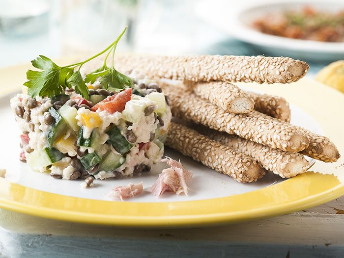 Salad with lentils and quinoa Photo Stavros Kostakis Styling Panagiota Liakopoulou