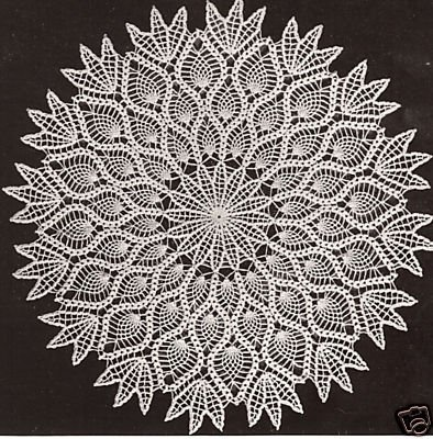 free crochet vintage patterns | FREE CROCHET PINEAPPLE DOILY PATTERN | FREE PATTERNS