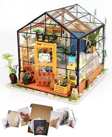 Get crafty with this Do-It-Yourself Mini Greenhouse Kit. It contains all the materials you need to build a miniature greenhouse that will look great anywhere&n