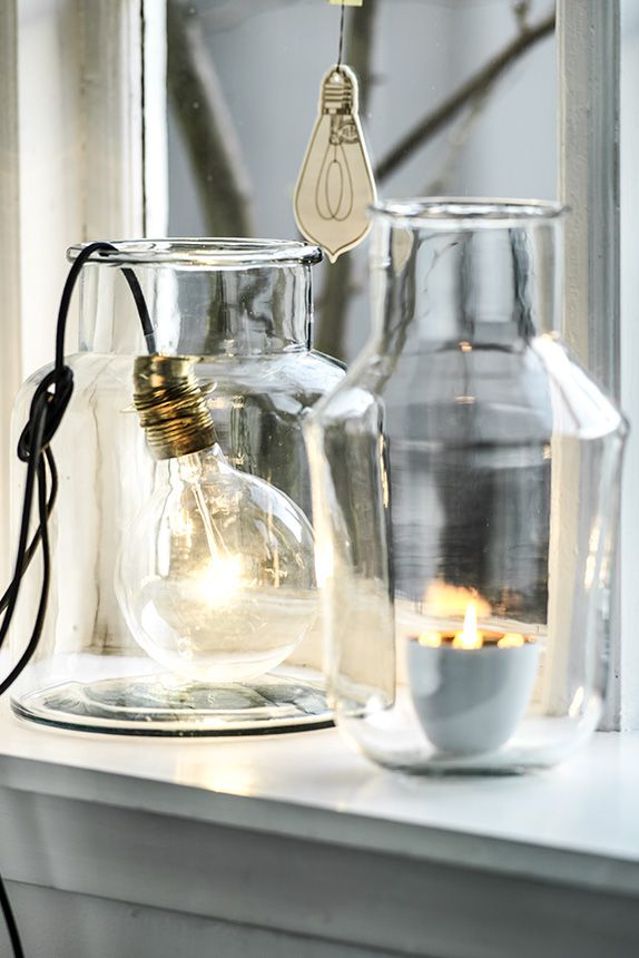 Glass Jar Light