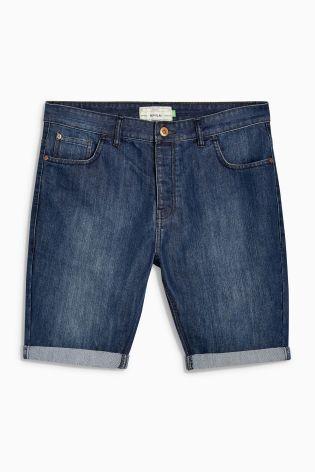 Buy Mid Wash Denim Regular Fit Shorts from the Next UK online shop