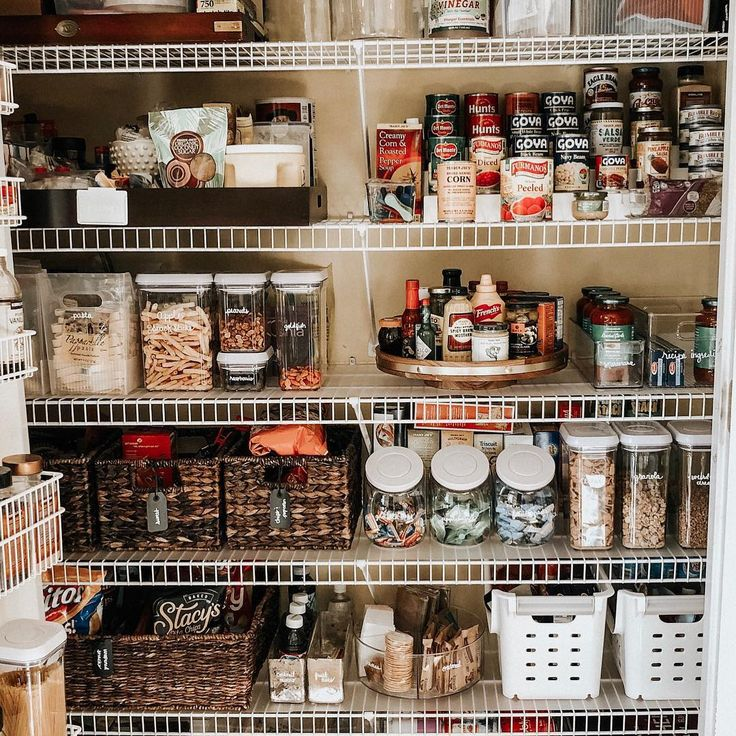 Pantry Organization   Spring cleaning, Pantry makeover ...