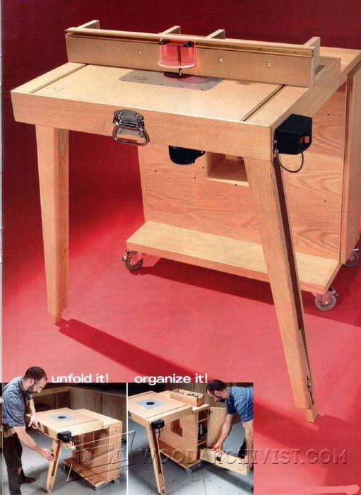 Mobile Router Table Plans - Router Tips, Jigs and Fixtures - Workshop Solutions, Woodwork, Woodworking, Woodworking Tips, Woodworking Techniques