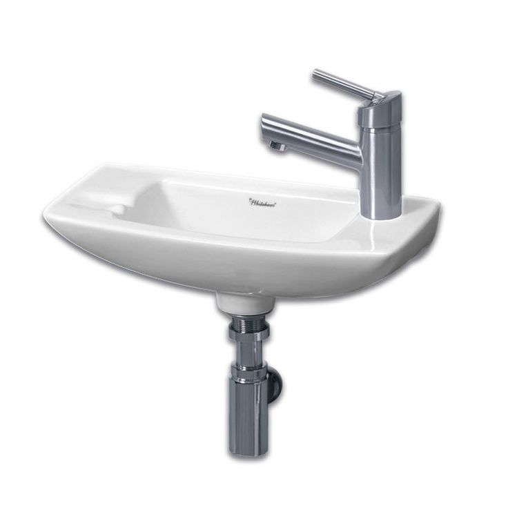 Whitehaus Small Wall Mount Sink   Right Side Single Faucet Drilling
