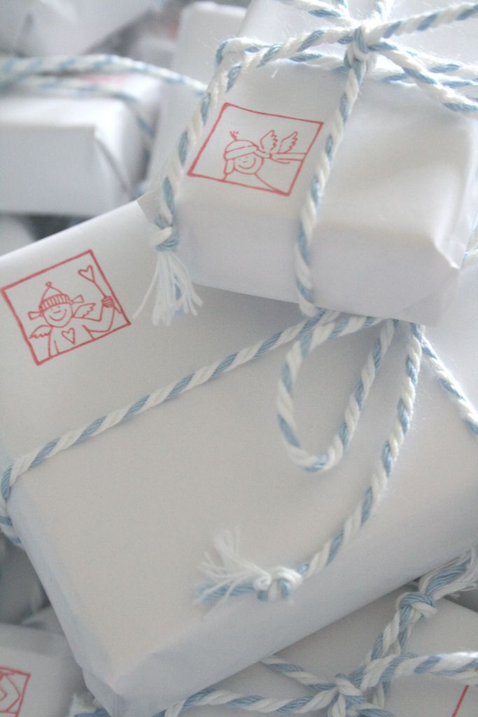 lovely gift wrapping ...