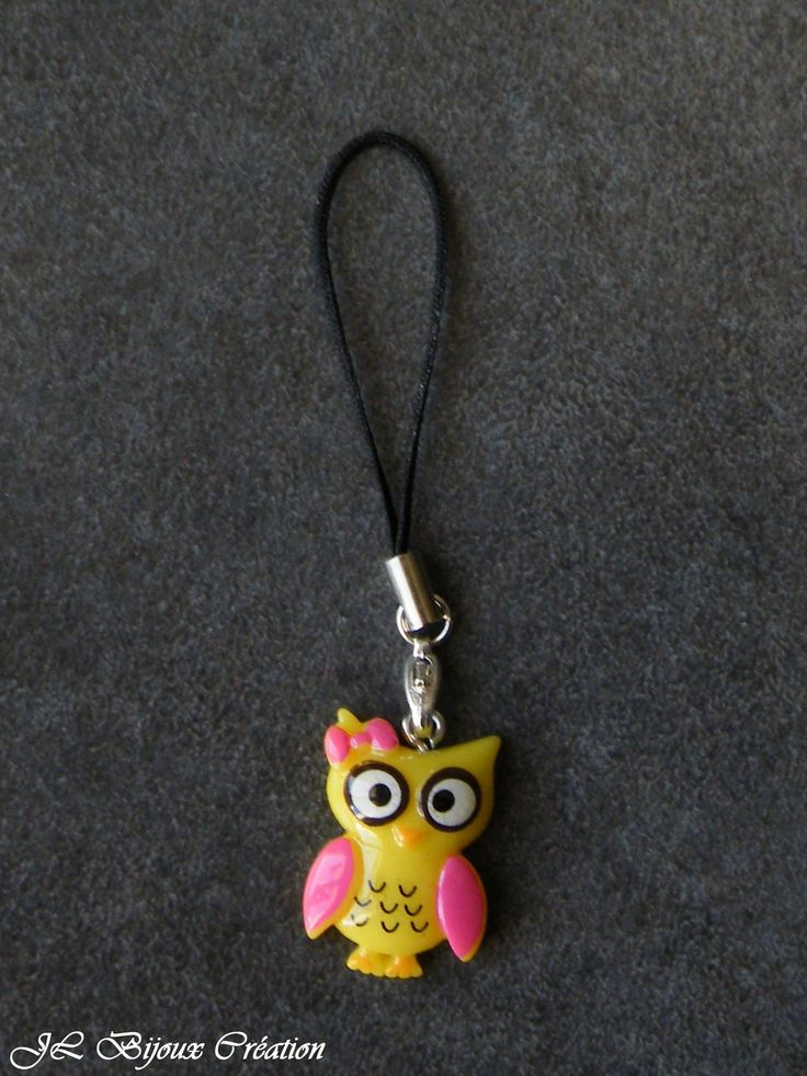 Cordon pour téléphone portable hibou : Autres bijoux par jl-bijoux-creation