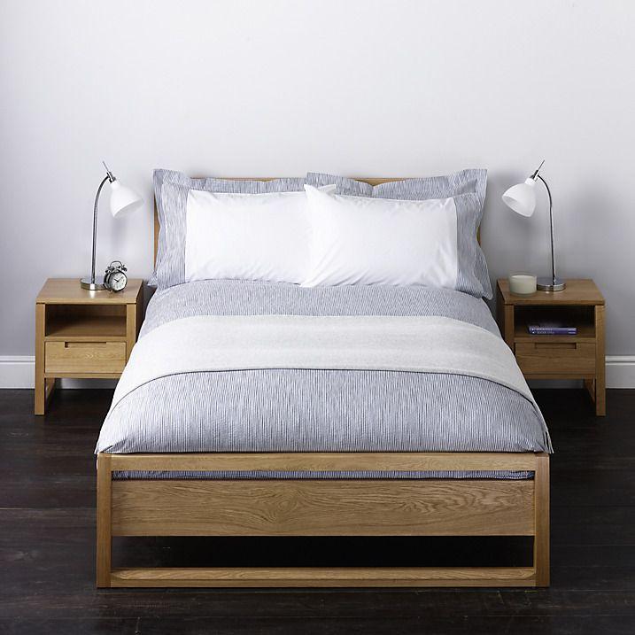 Buy John Lewis Stonewash Stripe Standard Pillowcase, Light Blue Online at johnlewis.com