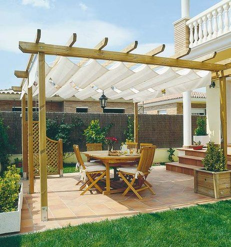 11 best images about pergolas on pinterest cordoba garden modern and porches - Tipos de toldos para patios ...