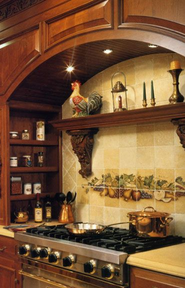 Italian Style Than Provence.but I LOVE The Side Shelf. What A Great Idea! I  Always Have My Spices All Over The Counter When Cooking, This Makes It Much  Less ...