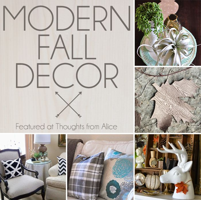 Thoughts from Alice: Modern Fall Decor: Sundays at Home No. 31 Weekly Link Party