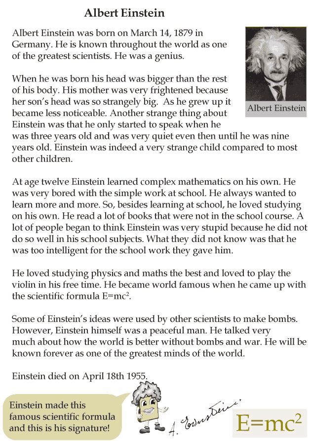 Grade 4 Reading Lesson 23 Biographies - Albert Einstein (1)