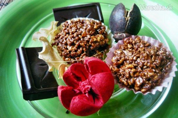 Chrumkavé čokoládové košíčky (fotorecept)