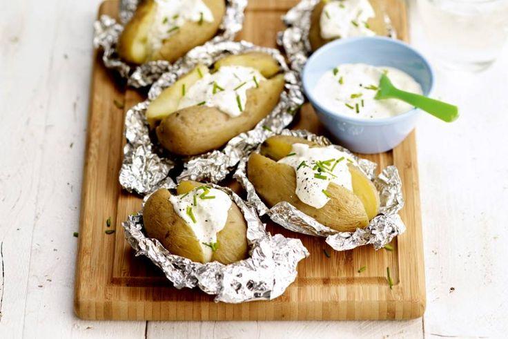 Kijk wat een lekker recept ik heb gevonden op Allerhande! Gepofte aardappel