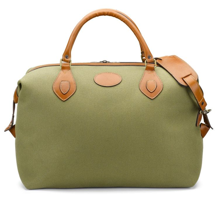 Our medium Explorer canvas and leather holdall in Olive is a brilliant bag for weekends and short breaks - small enough for cabin luggage as very squashable.