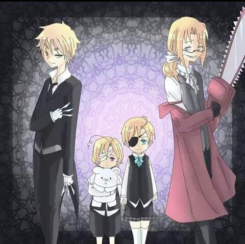 Nonononononononono. I don't like this, lil' America is too innocent and cute a lovable to be Ciel, England is to good to be Sebastian, and I don't know who Canada is supposed to be. France/Grell.....Wait, no that's pretty good. <<Canada is younger Ciel!