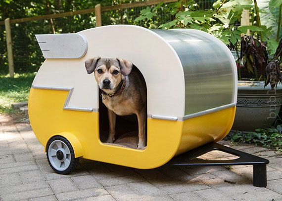 Streamliner dog house (not for sale as far as I can tell just a cute pic) | House stuff | Pinterest | Dog houses, Pets and Dogs
