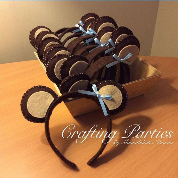"Teddy Bear ""Ears"". Headband is wrapped in brown felt. Ears are stuffed with soft cotton & hand stitched. A small satin ribbon completes the ears. Contact me for price or ordering info: diannacraftingparties@yahoo.com Follow me on IG @craftingparties"