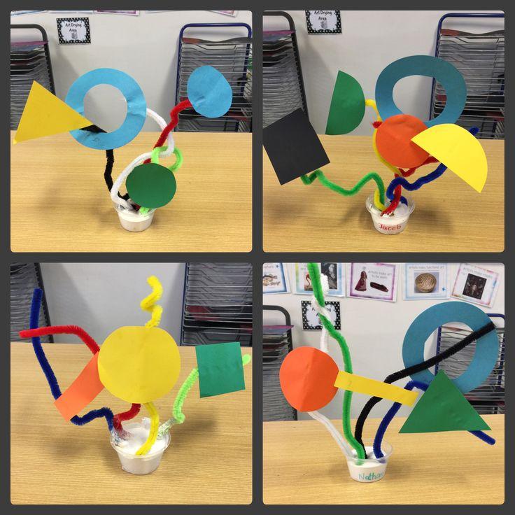 Kindergarten Miro inspired sculptures