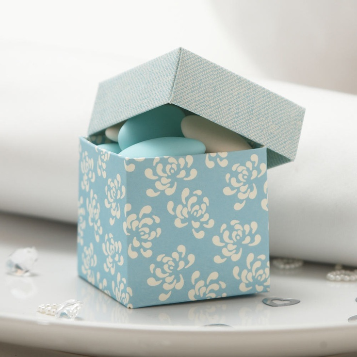 Blue Vintage Favour Boxes - 10 Pack