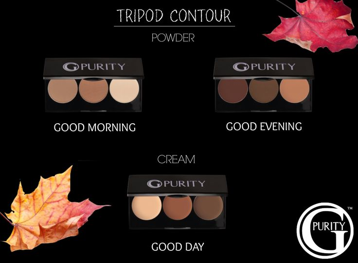 CONTOUR LIKE A PRO These convenient, compact, contour pallets are specifically designed for professional artistry. Threeblendable shades to sculpt, enhance, and define the beautiful features you were born with. It includes contour, contour/bronze and hi lite for defining and enhancing cheekbones, jawline, nose, and eyes.  #GPurity #ParabenFree #HypoAllergenic #CrueltyFree #NonComedogenic #Blendable #FragranceFree #HighlyPigmented #Refillable #Highlight #Contour #Bronze #PowderContour…