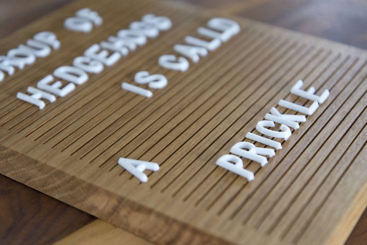 Wooden Letter Board 8x10 - Oak - Letterboard, Message Board, Felt Board, Wall Decor, Sign, Handcrafted, Photo Prop, Mid-Century Modern
