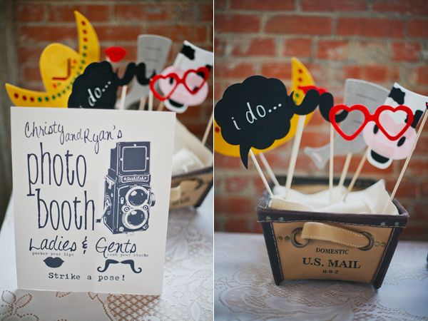 Whimsical Travel Wedding - maybe do something like this to use with polaroid instead of having an actual photo booth?