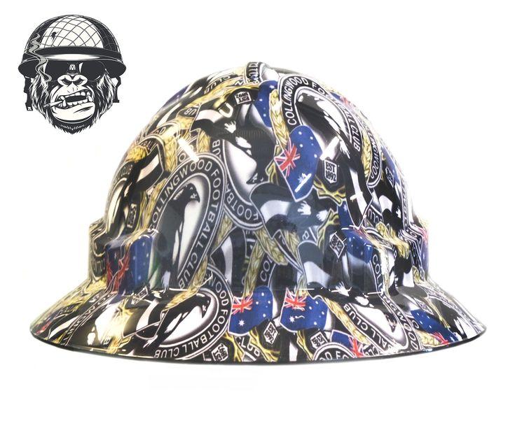 Custom hydrographic wide brim hard hat 100 legal fully