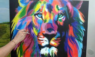 Il Bosco Incantato di Loredana Campo: Leone colorato