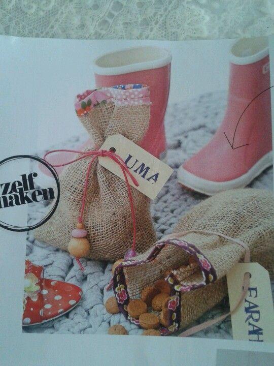 Sinterklaas #schoenzetten (DIY: snoepzakje met pepernoten)