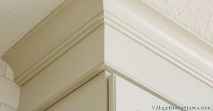 Stacked Crown Molding Onto A Crown Riser To Reach From