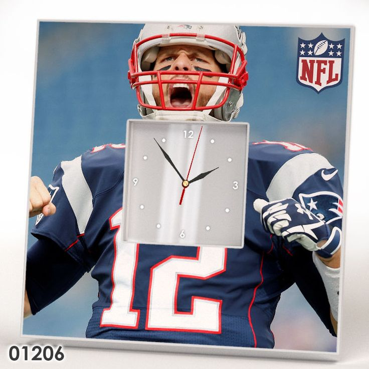 New England Patriots TOM BRADY Wall CLOCK Mirror Frame NFL Collection Fan Gift #IKEA #NewEnglandPatriots