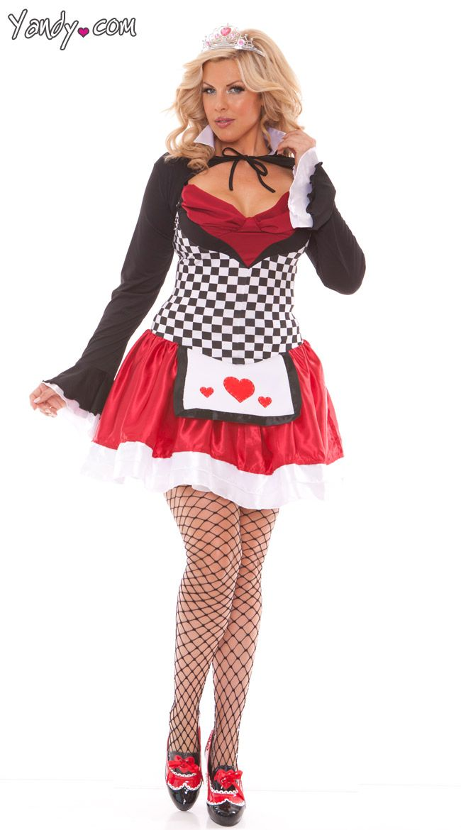 plus size off with their heads queen costume