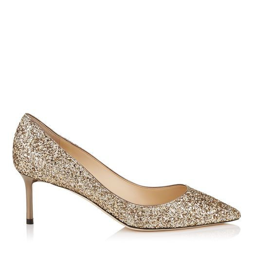 ROMY 60. Romy 60 Pointy Toe Pumps in Antique Gold Coarse Glitter Fabric. Discover our Pre Fall 17 Collection and shop the latest trends today.