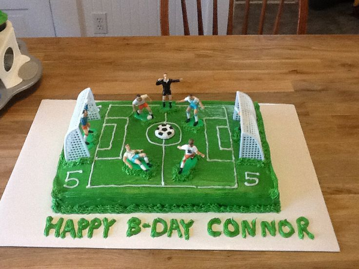 Soccer Field Cake Birthday Pinterest Cakes Fields