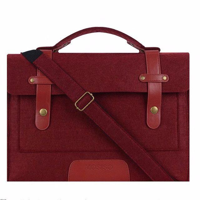 MOSISO Felt High Quality Designer Handbags Laptop Shoulder Bag Case 11.6 13.3 14 15.6inch Notebook Briefcase Hand Bags Sleeve