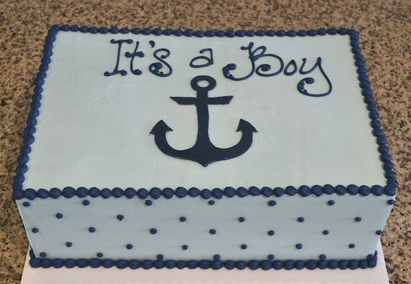 blue anchor boy baby shower cake sugarland raleigh and chapel hill