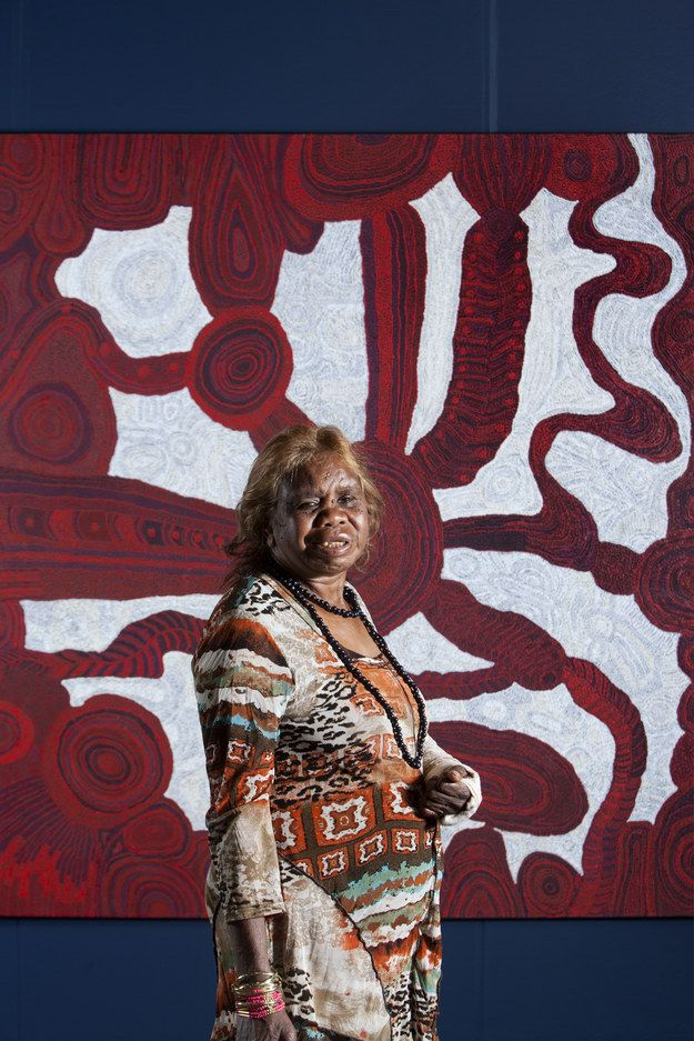 The General Painting Award was given to Betty Kuntiwa Pumani from South Australia for her work Antara (Maku Dreaming).