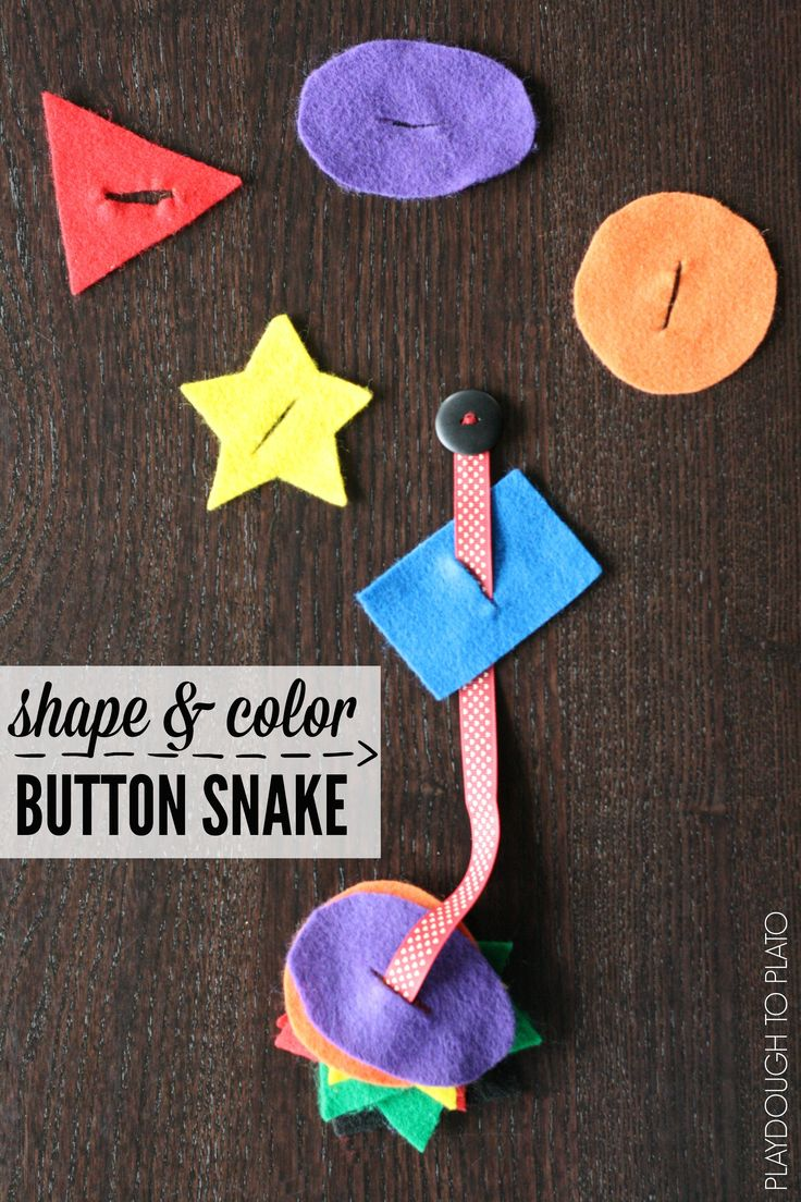 The shape and color button snake shape game for kids.