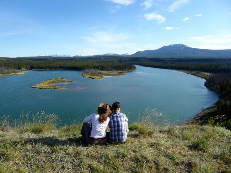A local favorite spot to break and admire the views when paddling the Yukon River. --Whitehorse, Yukon