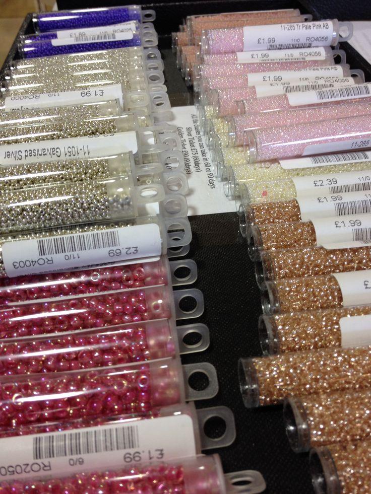 Tubing Miyuki seed beads!