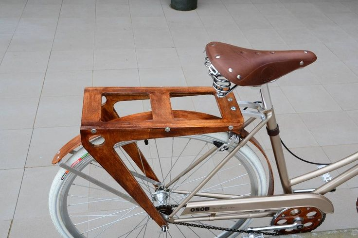 wooden bicycle rear rack 3