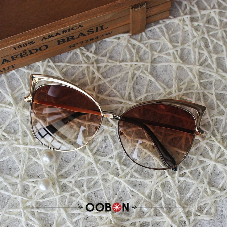 OOBON 2016 New Big Round Frame Sun Glasses 12 Colors Summer Cat Eye Sunglasses Women Brand Designer oculos de sol #clothing,#shoes,#jewelry,#women,#men,#hats,#watches,#belts,#fashion,#style