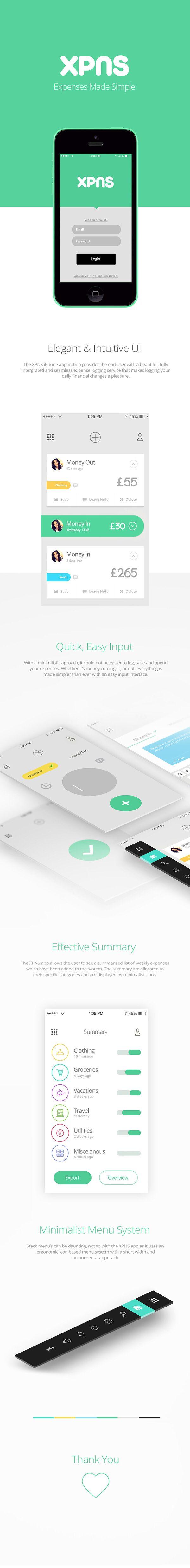 XPnS (Expenses app concept)