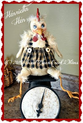 Sweet Bear Creek Whims Happenings...: Henrietta Hen tutorial Part 3