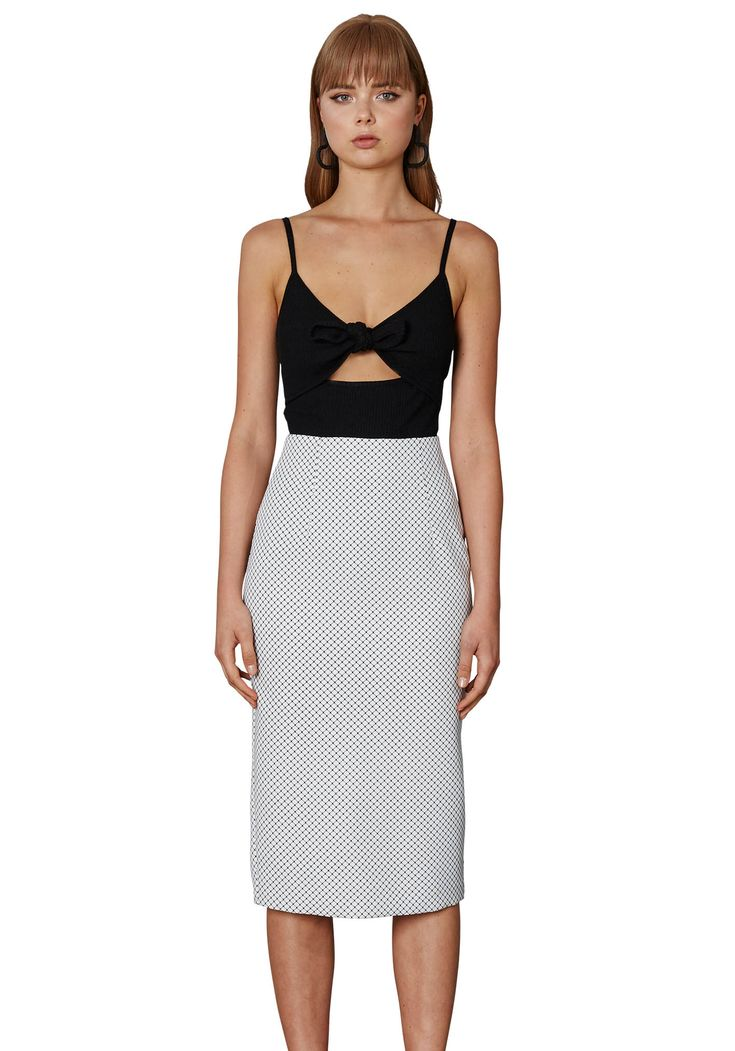 BY JOHNNY. Kick Back Pencil Skirt | Contemporary Australian Womenswear