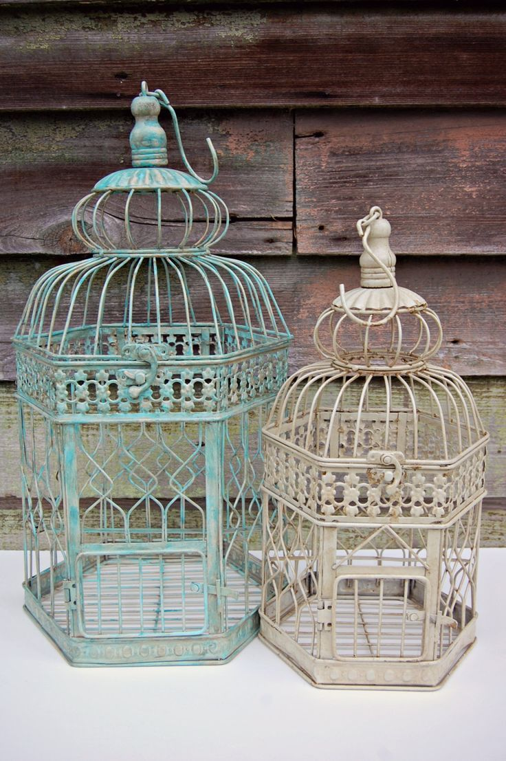 DIY Shabby Chic | Shabby Chic, Rustic, Home, Party, or DIY Wedding Decor, 14 Bird Cage.....LOVE THESE!!!!!