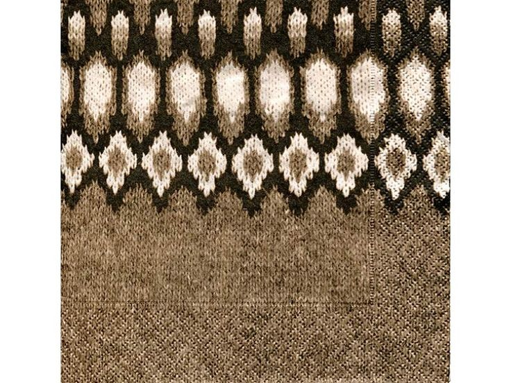 Brown Knit Napkins