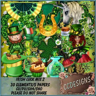 """CCDesigns: New in Store's """"Irish Luck Mix 2"""" Tagger Size"""